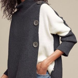 Solstice Two Toned Lightweight Pullover Sweater